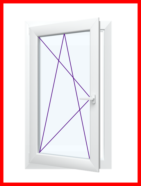 Dreh   -Kipp Fenster. 2 oder 3 Fach Verglaste  Kunststofffenster
