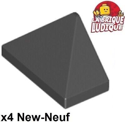 2 x LEGO 4460 Brique Pente Toit noir black Brick 1x2x3 Slope 75° NEUF NEW
