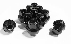 20 14x1.5 21mm Hex Black OEM Factory Style Acorn Ford Mustang Lincoln Lug Nuts