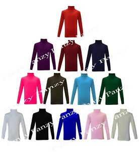 KIDS-BOYS-GIRLS-POLO-NECK-JUMPER-TOP-ROLL-NECK-LONG-SLEEVED-TOPS-2-13-YEARS