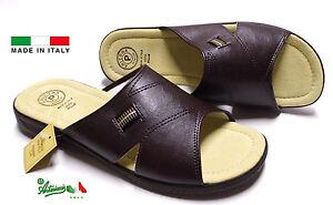 design raffinato amazon vendita all'ingrosso Dettagli su Pantofole ciabatte uomo ARIZONAbyPATRIZIA solettapelle NUMERI  GRANDI 46 47 48