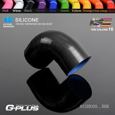 "35mm 1 3/8"" 90 Degree Hose Turbo Silicone Elbows Coupler Pipe Hose Black"