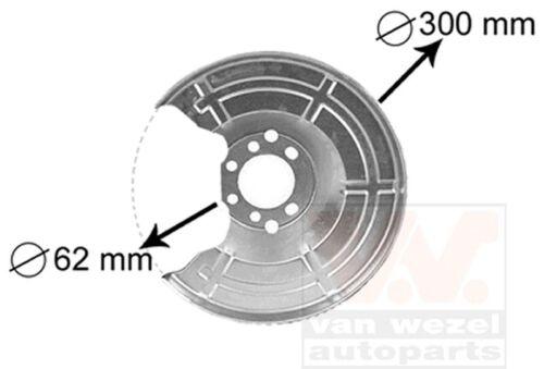 VAN WEZEL Spritzblech Bremsscheibe 3745371 für OPEL CC ASTRA hinten links rechts