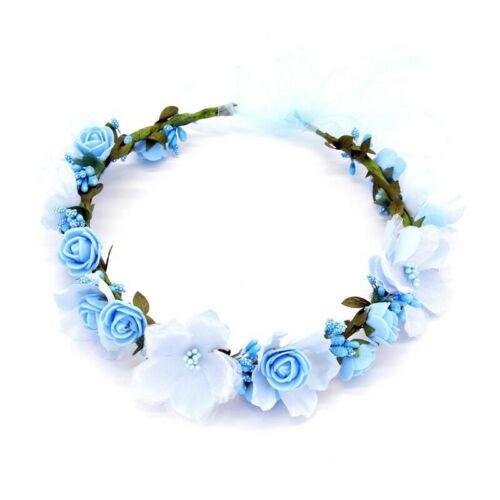 Flower Hairband Crown Beach Boho Party Headdress Floral Wedding Headband Bride