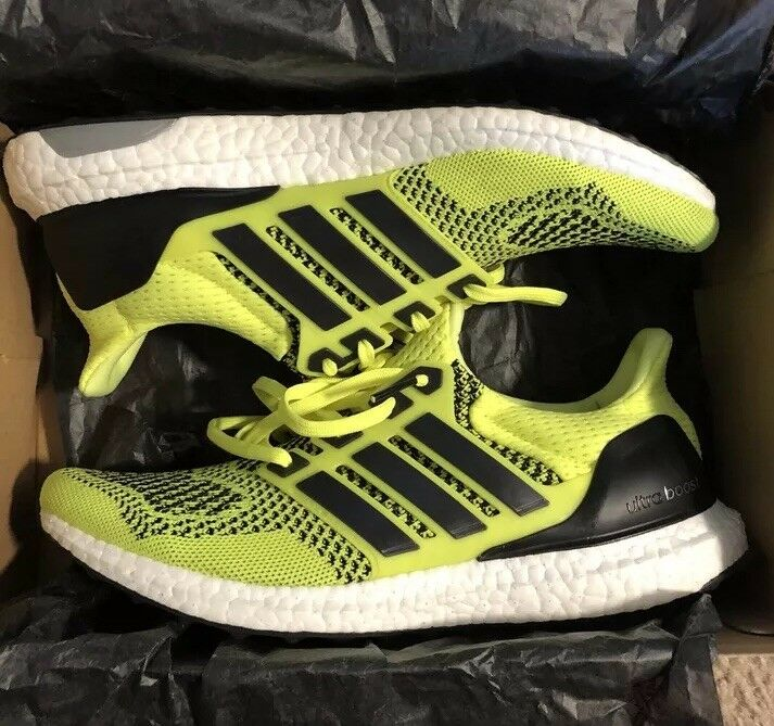 timeless design d0596 2c8fd Adidas Ultra Boost 1.0 M S77414 Solar Yellow 9.5 Limited Very RARE Yeezy NMD