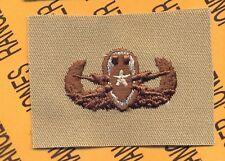 US Army Senior EOD Explosive Ordnance Disposal Desert DCU badge cloth patch