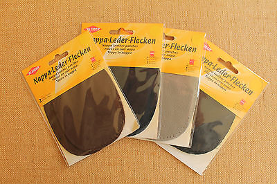 Elbow Patches x 2 Choice of Colours Kleiber Nappa Quick Sew Leather Washable