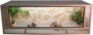 Osb - Front de terrarium en bois de cadre en épicéa massif 100x50x50cm