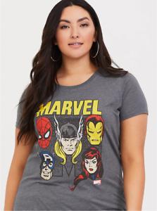 2ae16b29 Marvel Avengers Infinity War Grey Women's T-Shirt Torrid 1X | eBay