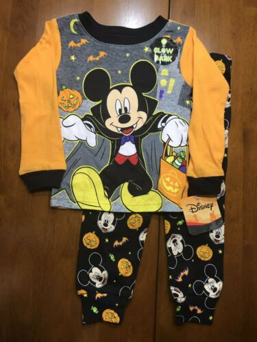 Mickey Mouse Halloween Glow In The Dark snug fit PJs