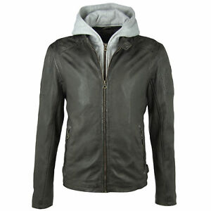 Gipsy-Mauritius-Herren-Bikerjacke-Lederjacke-Rylo-LAKEV-Jacket-Slimfit-Anthrazit
