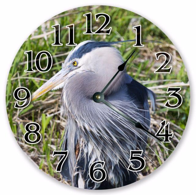 "3129 10.5/"" STELLAR/'S JAY BLUE BIRD CLOCK Home Décor Large 10.5/"" Wall Clock"