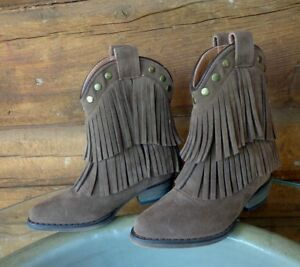 e3ca8a3f158 Details about Little Kids Fun Fringe Cowgirl Boots by Country Love Size 8 M  Toddler