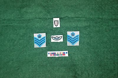 1//6 WW2 British  SAS patch and medal ribbon sets