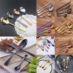4Pcs-Rainbow-Iridescent-Unicorn-Stainless-Steel-Cutlery-Set-Spoon-Tableware-New