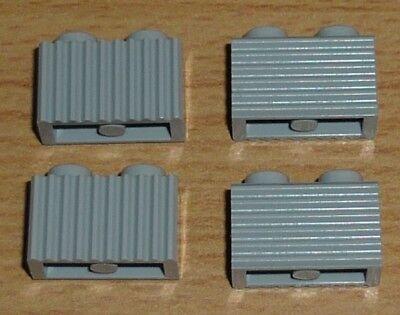 Lego 10 Stück Dachstein geriffelt in blau 18 2 x 1 x 2//3 Schrägsteine 61409 Neu