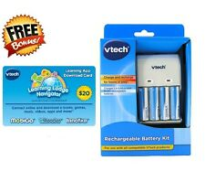 NEW! 4X Vtech AA Ni-Mh Rechargeable Batteries Charger Mobigo 1 2 VReader Battery