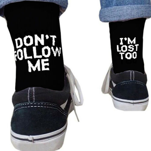"""Unisex Novelty Funny Sports Socks """"Don/'t Follow Me,I/'m Lost too./"""" Winter Gifts"""
