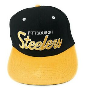 Pittsburgh-Steelers-Mitchell-amp-Ness-Snapback-Hat-Cap-NFL-Vintage