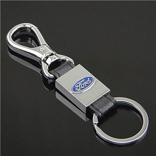 LEATHER KEYRING FORD KEYRING PREMIUM QUALITY BOX+1ST CLASS POST