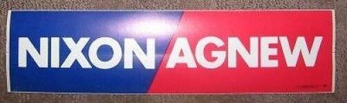 Original President Nixon Bumper Sticker Memorabilia Never Used!