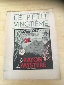 Tintin-Herge-Le-Petit-Vingtieme-du-15-octobre-1936-N41-TBE