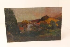 Hedwig-Klemm-Jager-Gilching-Ecoliere-Paul-Schad-Rossa-Peinture-a-L-039-Huile-Cabane