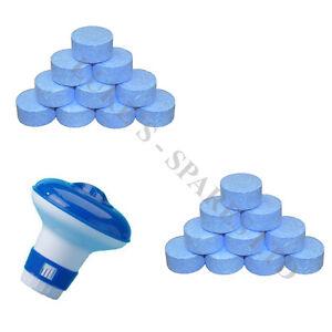 20 Chlorine Tablets 20g Hot Tub Swimming Tablet Small Floating Dispenser Ebay