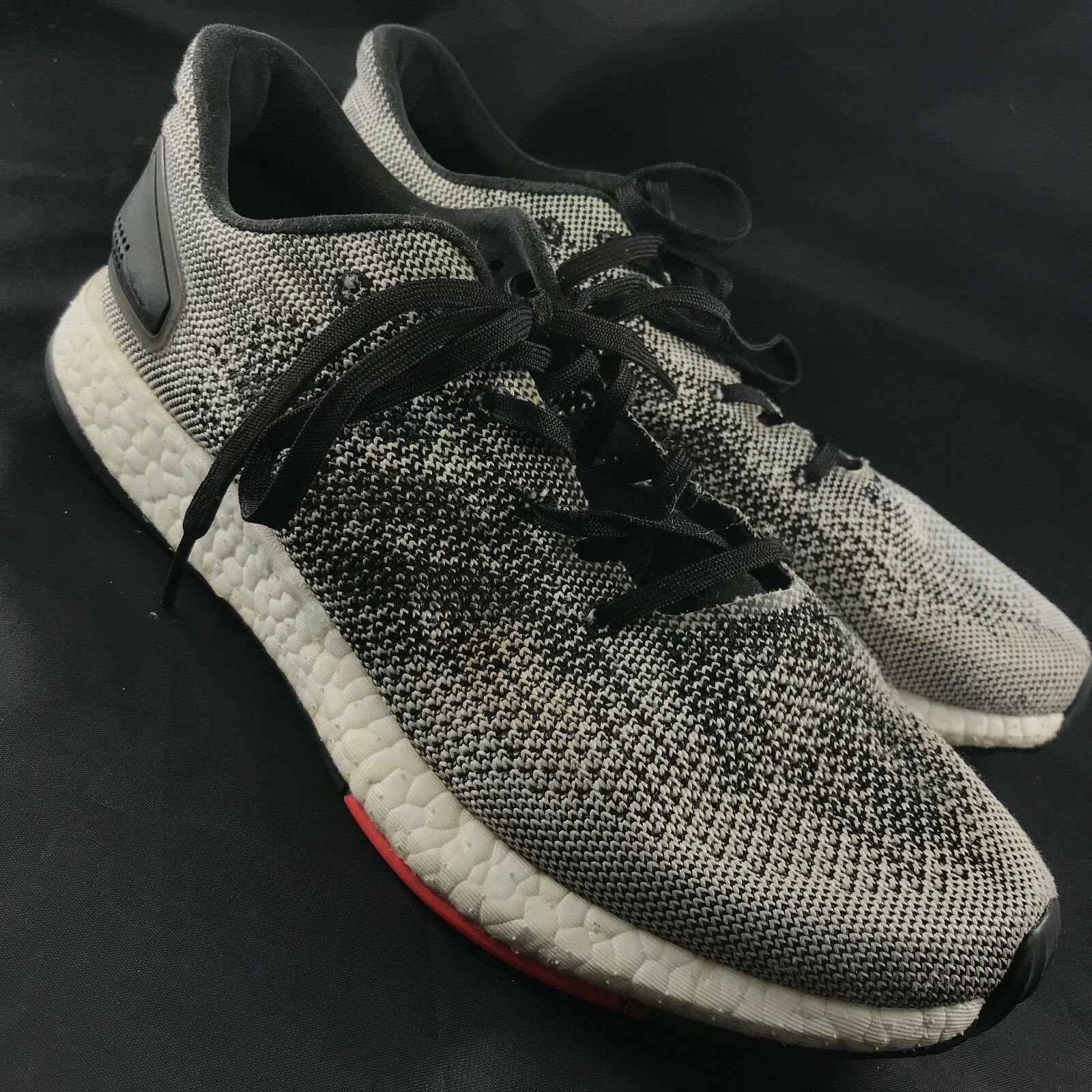 Men's Adidas PureBoost DPR Running Shoes Sz 8 Core Black White / White Black S80993 c62a05