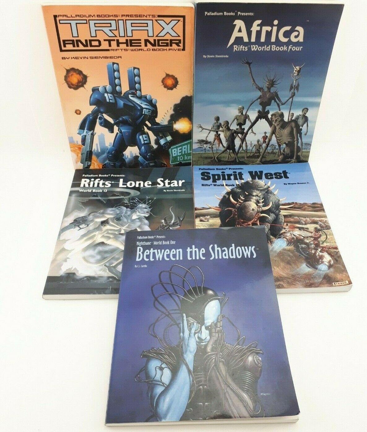 Palladium Rifts World Book Lot Africa Triax Lone Star Lot of 5
