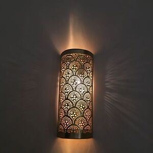Home decorators 2 pack antique brass moroccan wall light ebay image is loading home decorators 2 pack antique brass moroccan wall aloadofball Choice Image
