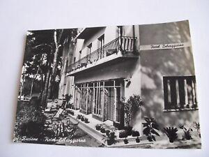 Dettagli su Rimini - Riccione Hotel Belsoggiorno - spedita f. g. 1955