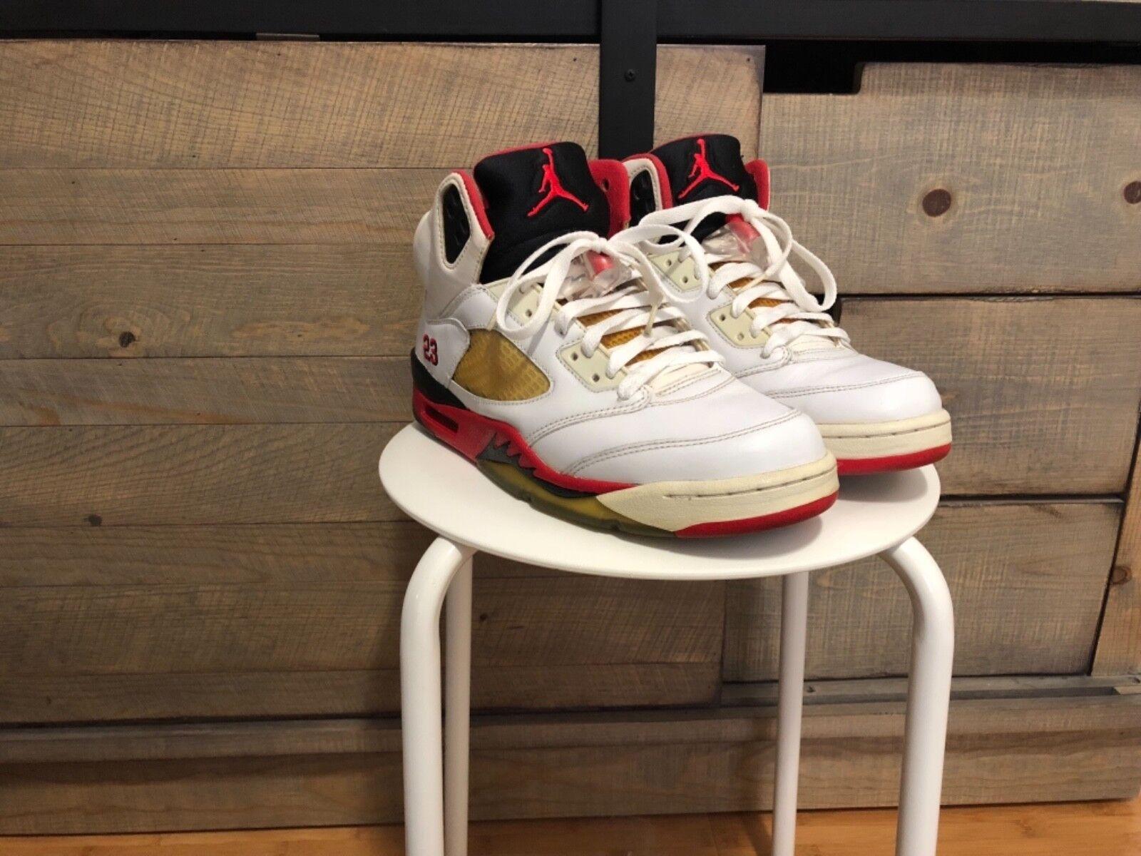 Nike Air Jordan V Vintage 5 Fire Red 8.5 Vintage V 2006 2b9ccc