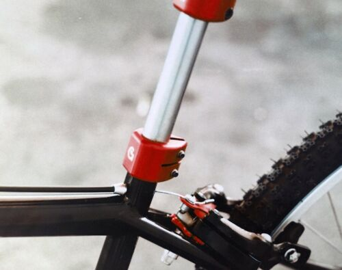 """SEAT POST CLAMP CNC Aluminum Made in USA RED 1"""" or 25.4mm ID Von Giese VG BMX"""