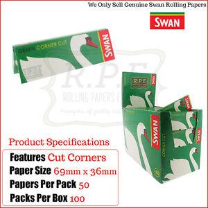 Swan-normal-verde-Cut-esquinas-Cigarrillo-Papeles-de-liar-5000-COMPLETO-CAJA