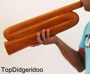 Pratique Z-shape Didgeridoo + Sac Unique Sculpté à La Main Acajou Bois Massif Voyage Sensation Confortable