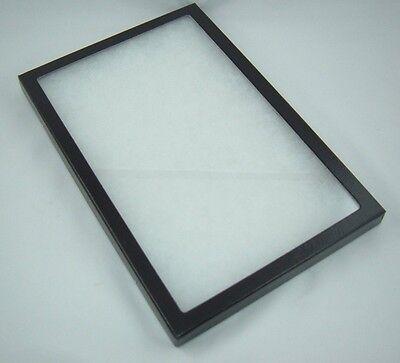 "one jewelry display case riker mount collectors display box show 8/"" X 12/"" X 7//8/"""