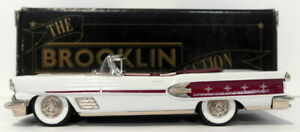 Brooklin Models 1/43 Scale BRK25 007 - 1958 Pontiac Bonneville Conv - White