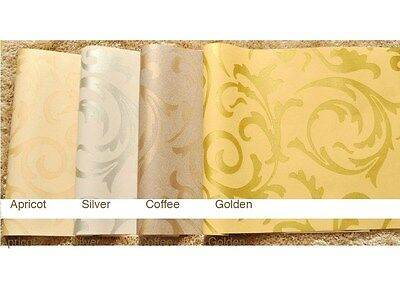 Luxury 33 feet Embossed Wallpaper rolls(choices: Silver, Golden, Apricot, Coffee