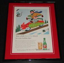 1959 Seven 7 Up Holiday 11x14 Framed ORIGINAL Vintage Advertisement