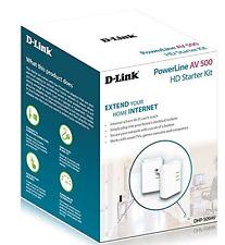 D-link DHP-509AV/B Av 500 HD Adaptadores Powerline Starter Kit-Wireless Wifi Enchufe