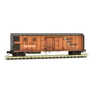 Pacific-Fruit-Express-51-039-Rivet-Side-Mechanical-Reefer-Car-MTL-54844100-Z-Scale