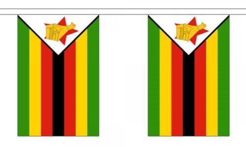 3m 6m 9m Metre Length 10 20 30 Flags Zimbabwe Flag Bunting Polyester