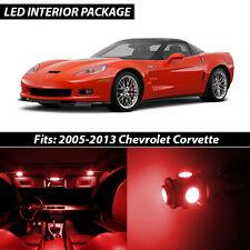 2005-2013 Chevrolet Corvette Red Interior LED Lights Package Kit