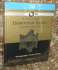 DOWNTON ABBEY SEASONS ONE & TWO LIMITED EDITION 5-DISC BLU-RAY BOX SET, NEW