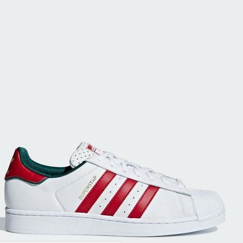 Adidas D96974 Superstar Casual chaussures blancrougegreen Sneakers