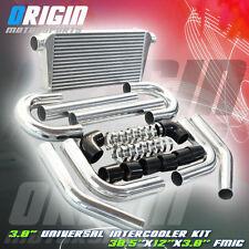 "30.5x12x3 FMIC 3.0"" TURBO INTERCOOLER +Aluminum PIPING KIT +Black SILICONE HOSES"