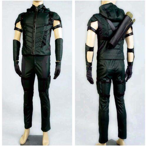 Details about  /Green Arrow Season 4 Superhero Oliver Queen Cosplay Costume Halloween Uniform