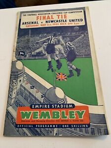 1952 FA Cup Final Arsenal v Newcastle United | eBay