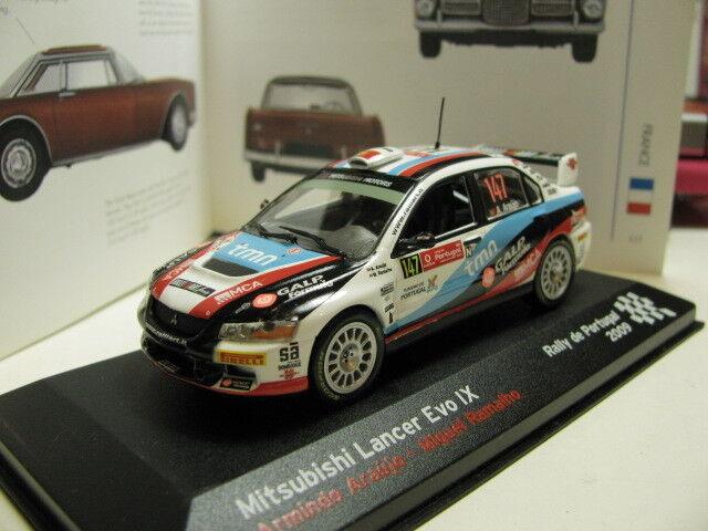 1 43 Mitsubishi Lancer Evo IX Rally de Portugal 2009 diecast